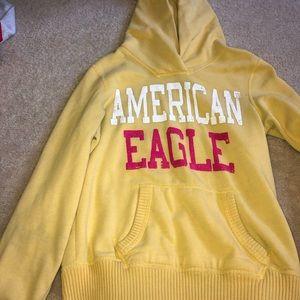 yellow american eagle hoodie